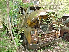 coe 3 (boisblanc1954) Tags: old ford abandoned truck vintage rusty junkyard gmc coe cabover