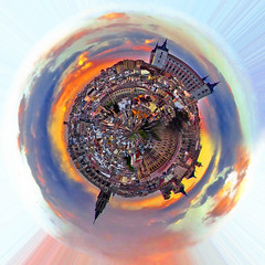 Planet Toledo (Charlie Wild) Tags: city sunset panorama espaa castle landscape atardecer spain cathedral catedral ciudad paisaje toledo planet polar ocaso planeta alczar