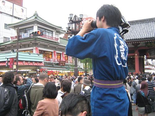 Cameraman at Sanja Matsuri