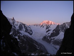 Sunset above the Mont Blanc (__Tristan__) Tags: sunset mountain france ice rock glacier montblanc massifdumontblanc