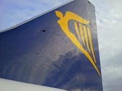Ryanair plane tail