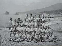 Young pioneers in Artek 1975 (maxim off) Tags: summer camp bw beach youth children soviet 1975 pioneer crimea blacksea ussr artek