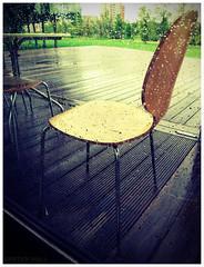Rain | Window | Chair (peterphotographic) Tags: uk england cold london window wet water rain grey cafe chair britain miserable decking eastlondon barrierpark canong12 camarebag