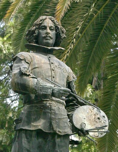 Monumento a Velázquez. Susillo. Plaza del Duque. Sevilla