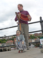 Storytelling By A Yorkshireman (Canadian Pacific) Tags: england puppet britain yorkshire united great north kingdom story whitby british busker accordian concertina marionette teller storyteller squeezebox