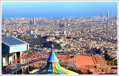 Barcelona (Sir Cam) Tags: barcelona sea spain mediterranean panoramic espana gaudi torreagbar tibidabo sagradafamlia blueribbonwinner supershot sircam theperfectphotographer