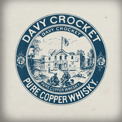 Davy Crocket Whiskey (Howdy, I'm H. Michael Karshis) Tags: sanantonio drink whiskey copper 1906 alamo pure hmk crocket