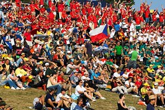 A crowd of fans at MotoGP 2007, photo by teliko82