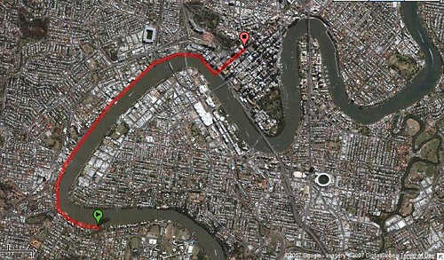 todos os dias, 11 km de bicicleta, de casa para o trabalho, em brisbane pela bicentennial bikeway