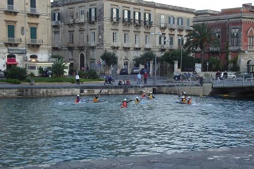 Kayak Water Polo, Ortygia, Siracusa, Sicily
