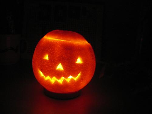 Taronja de Halloween