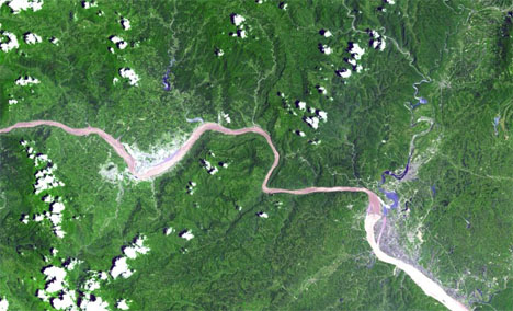 Three Gorges Dam Aerial