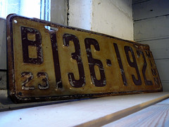 1923 Minnesota License Plate