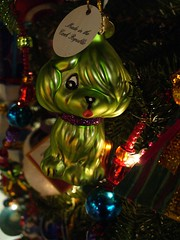What says Xmas more than a green dog ornament? (Krista76) Tags: christmas xmas kowalskis greendog christmastreeornaments thingamabobs glassornaments grocerystorestuff