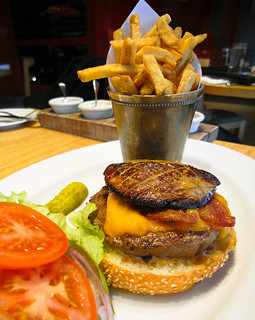 The Feenie Burger with Foie Gras @ Feenie's