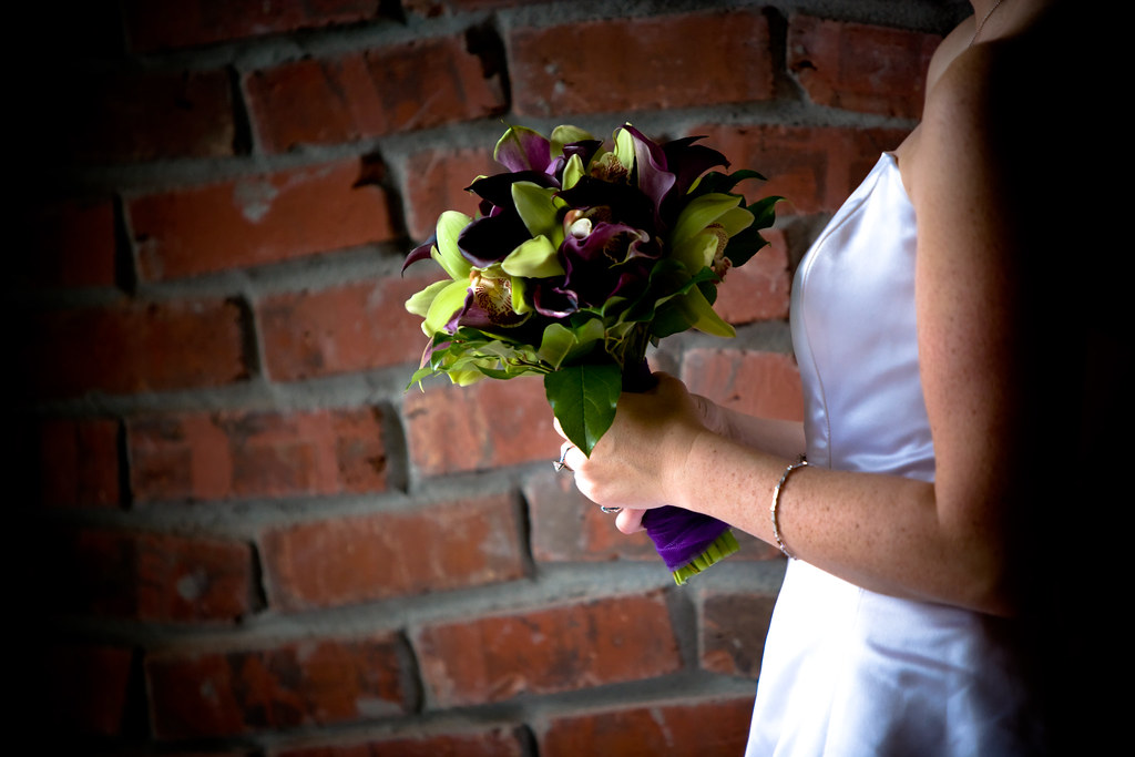 Bride Holding Bouquet Before Wedding Ceremony