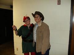 Robyn and Isaac, pre-TGG Halloween party (Printking) Tags: gay halloween october cowboy zombie isaac hood robyn wichita 2007 tgg brokeback