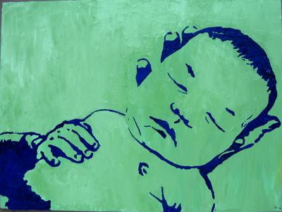Stencil Portrait - Chantelle's niece