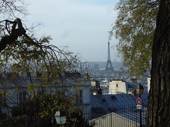 Eiffel Tower seen from Montmatre