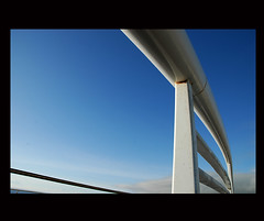 the tube # 1 (Antonio Pacheco) Tags: blue sky white colors azul architecture arquitectura tubes cu perspectiva thetube azores aores tubos diapositivo