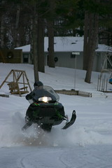 Kel's First Snowmobile Ride.
