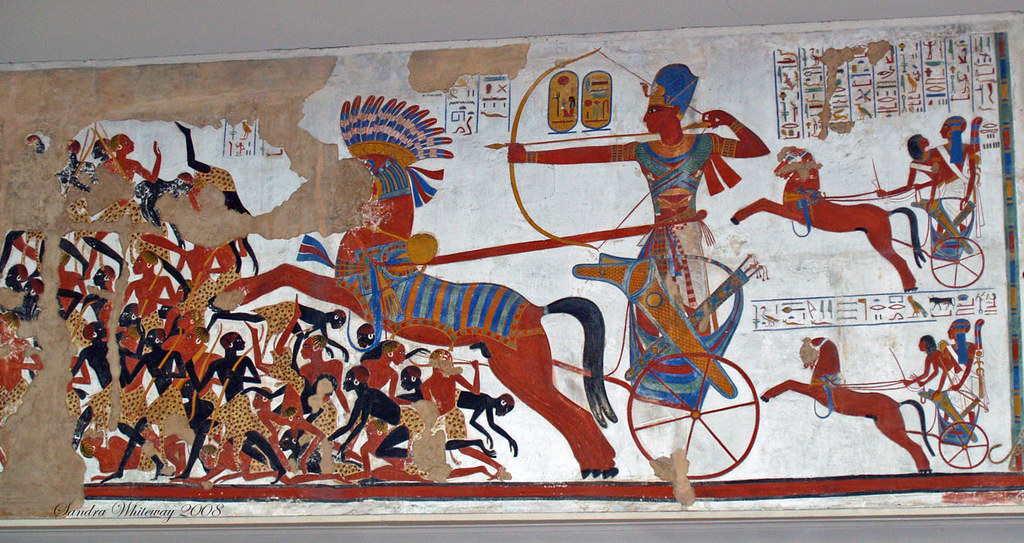 This Wall Mural Explains Everything About The People Of Ancient Egypt And  Their African Enemies. Some Of The Enemies Had A Reddish Coloring, But As  One Can ... Part 90