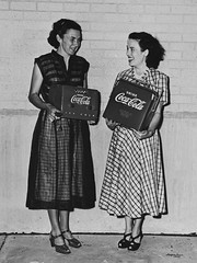 Houston Coca-Cola Grand Opening 1950 (Texas.713) Tags: west girl radio am kirby fifties village dress rice drinking houston coke grand nostalgia u babes winner heels opening prize 50s cocacola cooler win 502 bissonnet hccbc