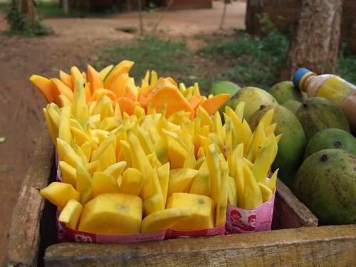 Sliced Mangoes