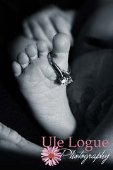 Baby Audra - 6 days (Ule (Photography By)) Tags: new wedding blackandwhite baby girl foot infant ring diamond ule