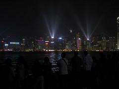 Symphony of Lights (Robs.au) Tags: skyline hongkong lights spotlights lightpollution searchlights symphonyoflights