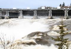 Falls (Chickadee (Carole)) Tags: canada water spring falls newbrunswick grandfall mywinners carolesphoto