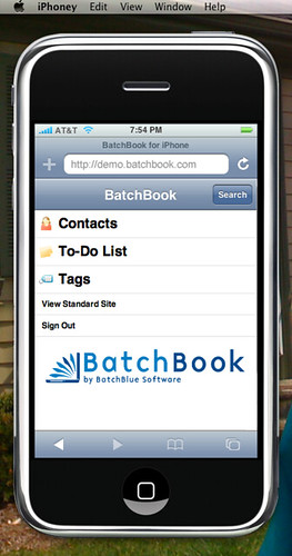BatchBook for iPhone: Home