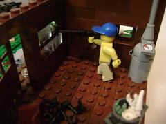 Shootout 4 (Battledog) Tags: crazy lego diorama gunfight maniac shootout moc vig