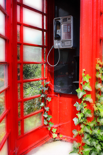 Rural phone box