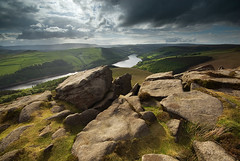 Whinstone Lee Tor (andy_AHG) Tags: sunset rural outdoors evening spring rocks derwentvalley derbyshire peakdistrict scenic moors pennines darkpeak ladybowerreservoir britishcountryside derwentedge northernengland whinstoneleetor landscapephotography beautifullandscapes easternedges