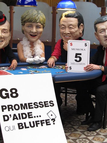 The G8 promised $5 billion of aid over 3 years in Muskoka