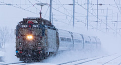 AEM7 923 Bristol Snow (MG2AM) Tags: snow train bristol amtrak passenger nec aem7 923