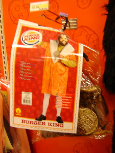 Burger King costume at Target.