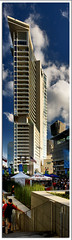 The W Hotel (Justin Terveen) Tags: street city panorama building skyline architecture landscape dallas downtown cityscape texas perspective panoramic structure uptown fabric exploration streetscape ninjatune swivel justi