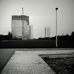 Mmm Skyscraper I Love You (Vincnt) Tags: 6x6 zeiss skyscraper prague praha hasselblad mmm squareformat czechrepublic iloveyou vincentvega pankrc 503cw citytower monochromia canoscan9950f ilfordrapidfixer agfarodinal1100 vincnt distagoncf504tfle fomafomapan400
