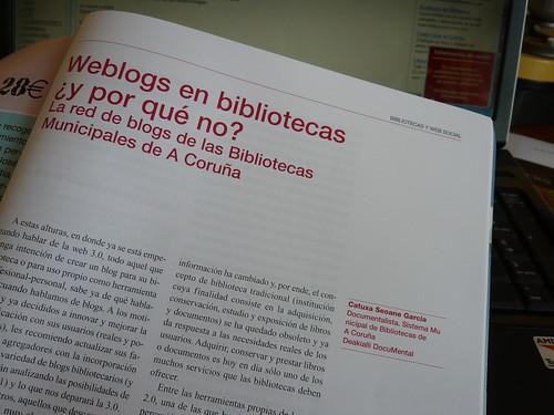 Weblogs en bibliotecas ¿y por qué no? La red de blog de las Bibliotecas Municipales de A Coruña