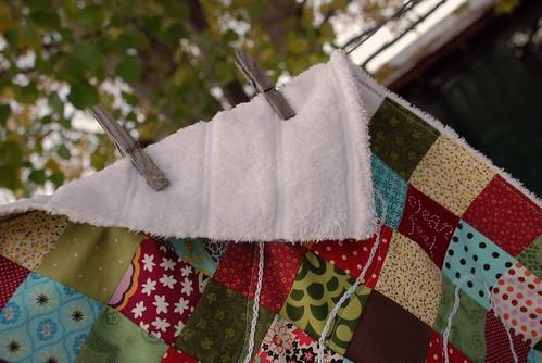 patchwork bath mat towel backing