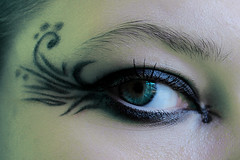i'm watchin' u. yes, i am. (marketamedkova) Tags: blue colour eye makeup glance russiangirl mywinners