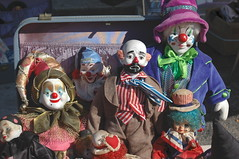 Clowns (hennpict) Tags: street fall festival scary nikon dolls d70s broadway freaky puppets clowns fellspoint baltimoremaryland marylandphotographer marylandphotography hennpict baltimorephotography hennpictstudio