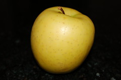 Green golden apple