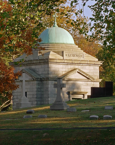 Calvary Roman Catholic Cemetery, in Saint Louis, Missouri, USA - Kerens mausoleum.jpg