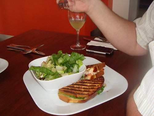 Sandwich and Salad at 3 Square