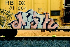 Myth DCM (All Seeing) Tags: art graffiti trains myth graffitiart freights paintedtrains railart minneapolisgraffiti freightgraffiti boxcarart mythdcm twincitiesgraffiti