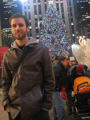 Ian in front of Rockafeller Center, NY