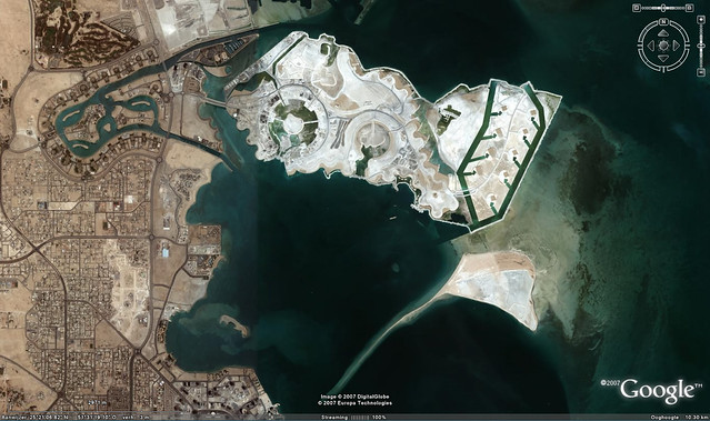 google maps qatar. For the Google Earth fans a screenshot from the Pearl Qatar for oure next